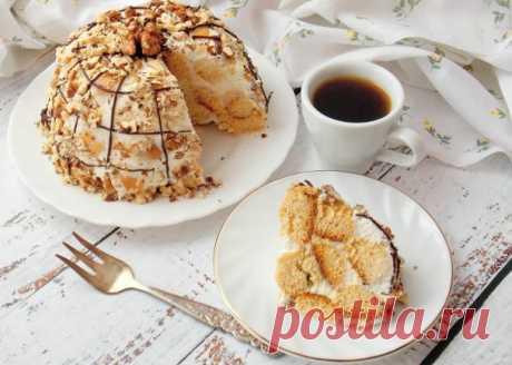 """Торт """"Медовые шарики"""" - пошаговый рецепт с фото на Повар.ру"""