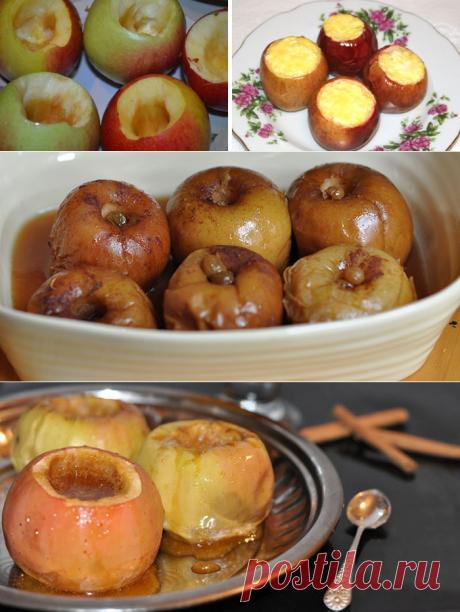 Как запечь яблоки в духовке - пошаговые рецепты приготовления с фото и видео
