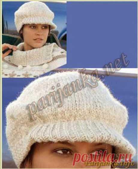 Мастера и умники: Тёплая женская кепка спицами
