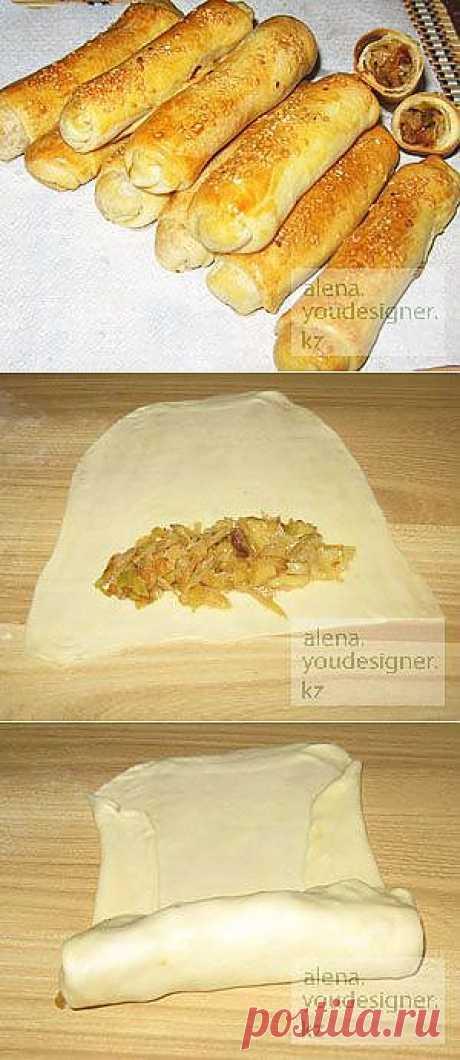 Блог кулинарии и домоводства : Выпечка, не сладкая выпечка : Пирожки с капустой - Сигары
