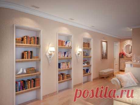 Стеллажи для комнаты: варианты зонирования разных комнат, функциональные особенности