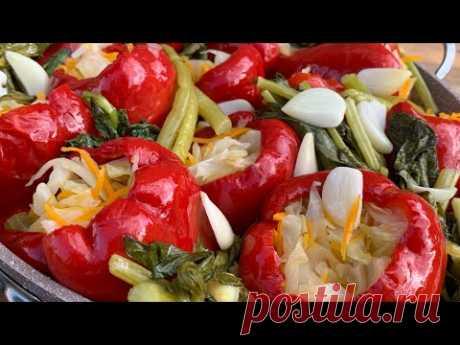 Маринованный красный перец с капустой | Pickled red pepper | Մարինացված կարմիր բիբար
