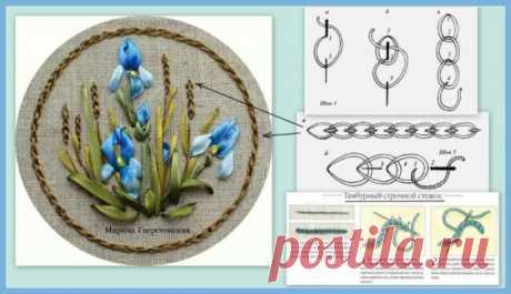 Стежки для создания красивых цветов