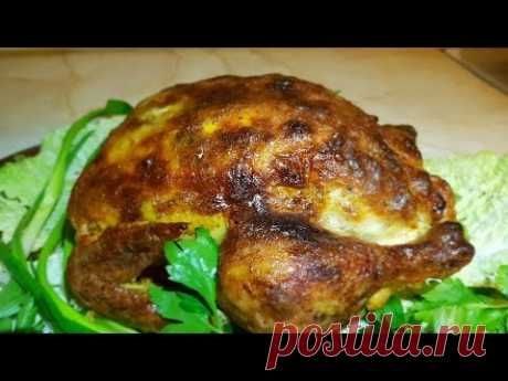 Курица с яблоками, цыганка готовит. Курица запечённая в духовке. Gipsy cuisine.