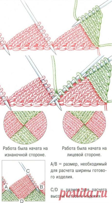 Вязание в технике энтерлак (пэчворк спицами). - Школа рукоделия - Страна Мам