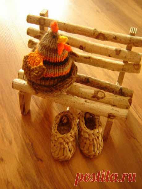 Вяжем игрушки спицами с Ольгой Чепижной: Вяжем курочку с сюрпризом.