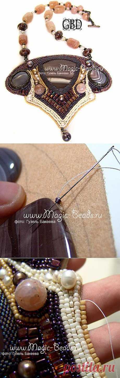 Бисероплетение и рукоделие: схемы колье из бисера и бусин