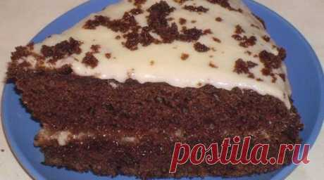 Очень вкусный шоколадный торт на кефире - interesno.win Торт готовится очень просто и быстро. Вкус восхищает! Ингредиенты: Для теста: ✓...