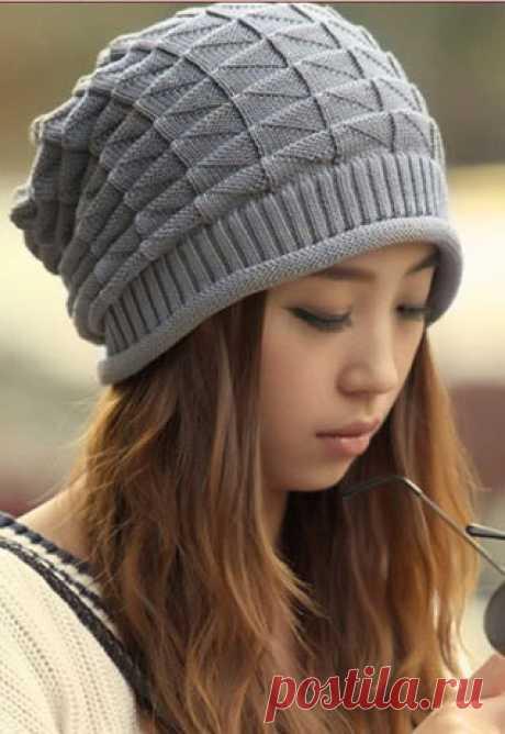 Красивый узор для шапочки. Зимняя вязаная спицами шапочка | Я Хозяйка