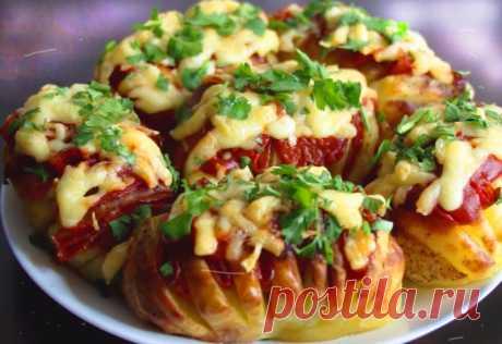 Фаршированный картофель в духовке: Простой и вкусный