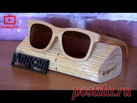 Деревянные солнцезащитные очки с поляризацией с Алиэкспресс.
