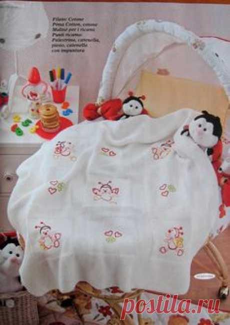 Вязание для малышей пледа Culla