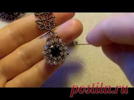 Sidonia's handmade jewelry - How to bezel an 8mm Swarovski chaton