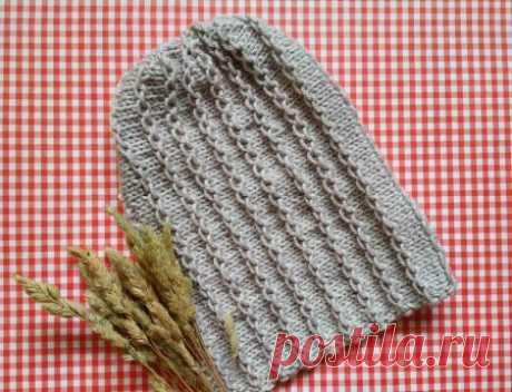 Холода не страшны! Вяжем модную шапку бини на 2 спицах » «Хомяк55» - всё о вязании спицами и крючком