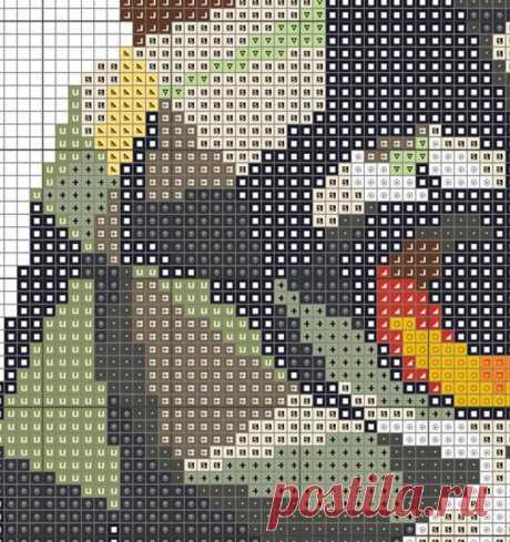 Geometric Owl Counted Cross stitch Pattern PDF Cross Stitch   Etsy