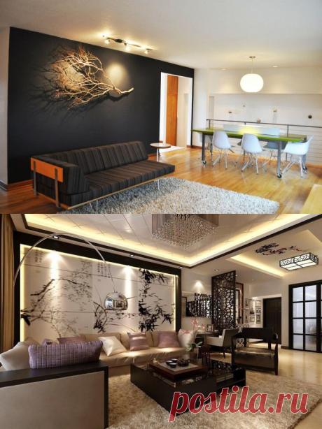 От картин до смелых панно, или Как легко и просто украсить стену над диваном | Мой дом