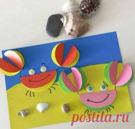 Объемная аппликация из кругов из цветной бумаги — Поделки с детьми