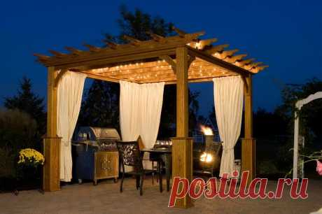 """The pergola at the dacha is beauty and comfort!\"""" Female World"""