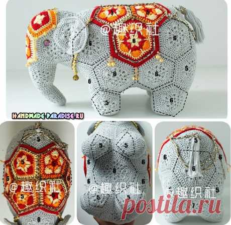 Индийский слон мотивами африканский цветок