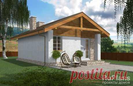 Rg3963 - Проект компактного одноэтажного дома