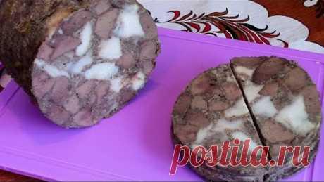 Ветчина из печени с мясом ./Вкусный рецепт ./Рецепты из печени ./Ветчинница рецепт .