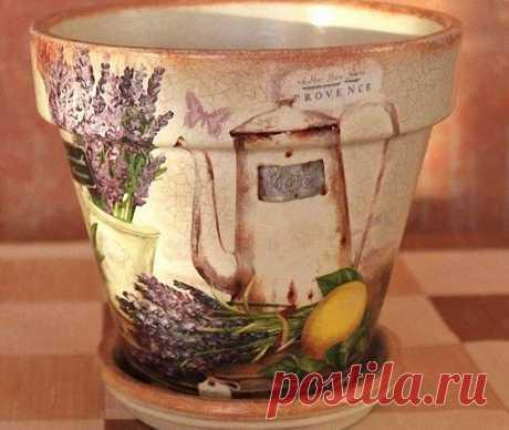 Декупаж горшка для цветов - 60 фото примерно необычного оформления цветочных горшков
