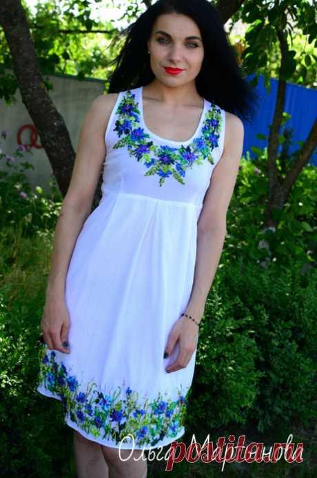 Вышивка лентами на платьях от Ольги Мартыновой. Невероятно красиво!. Обсуждение на LiveInternet -