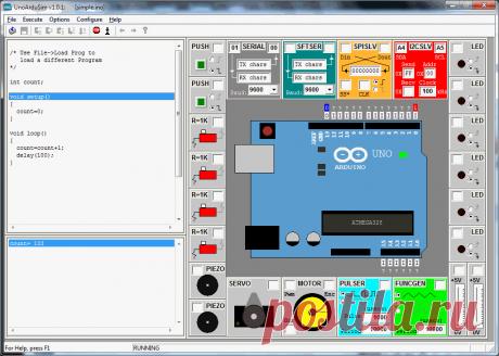 Тренажер в программном обеспечении для Arduino- aht9simsimm