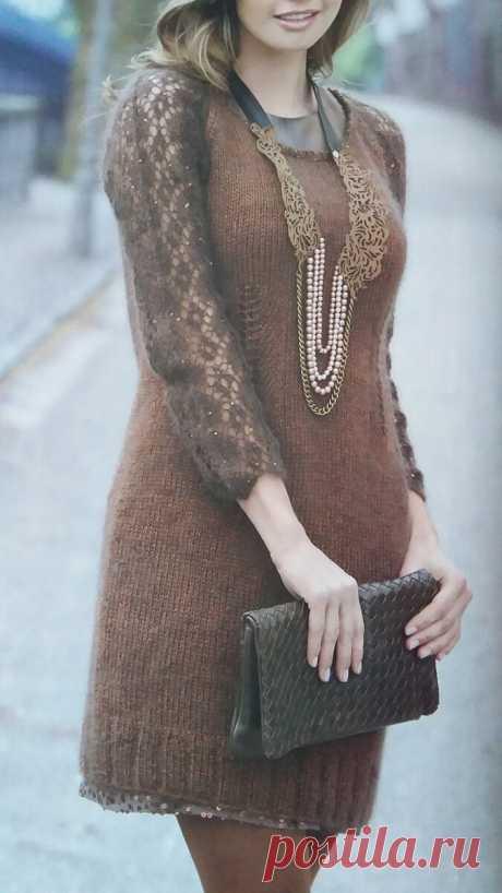 Вязаное платье должно быть в гардеробе каждой женщины. Выбери подходящее для себя! Осенне-зимние модели. | ЧТО СВЯЗАТЬ? | Яндекс Дзен