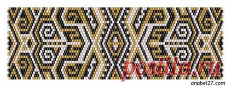 Схемы плетения из бисера в технике мозаичного плетения (подборка 14)