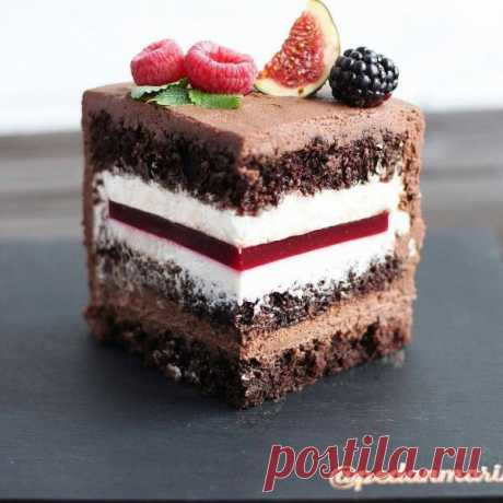 Торт шоколадно-малиновый | HomeBaked