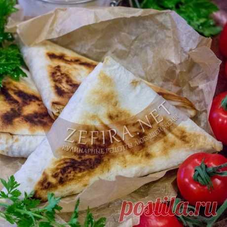 Жареный лаваш с начинкой из курицы и грибов — Кулинарные рецепты любящей жены