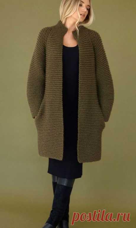 Осенние кардиганы и пальто спицами. 10 моделей с описанием. Интересные идеи. | Ирина СНежная & Вязание | Яндекс Дзен
