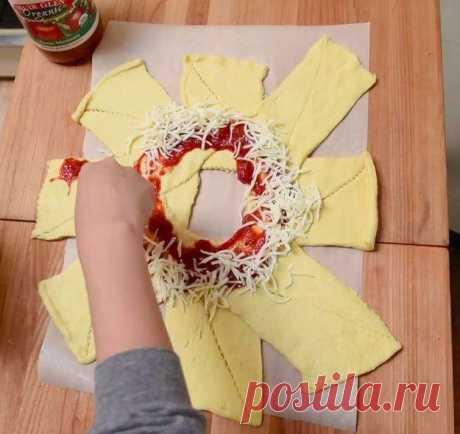 Простой рецепт пиццы колечком / Гурмания / magSpace.ru