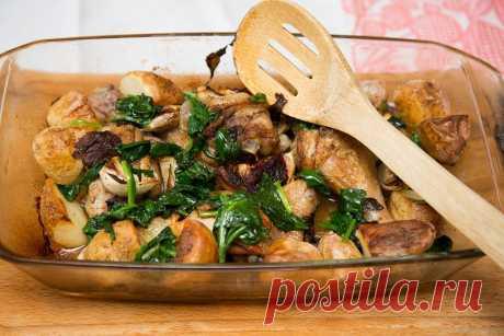 Курица, запеченная с лимоном и шпинатом   ПолонСил.ру - социальная сеть здоровья