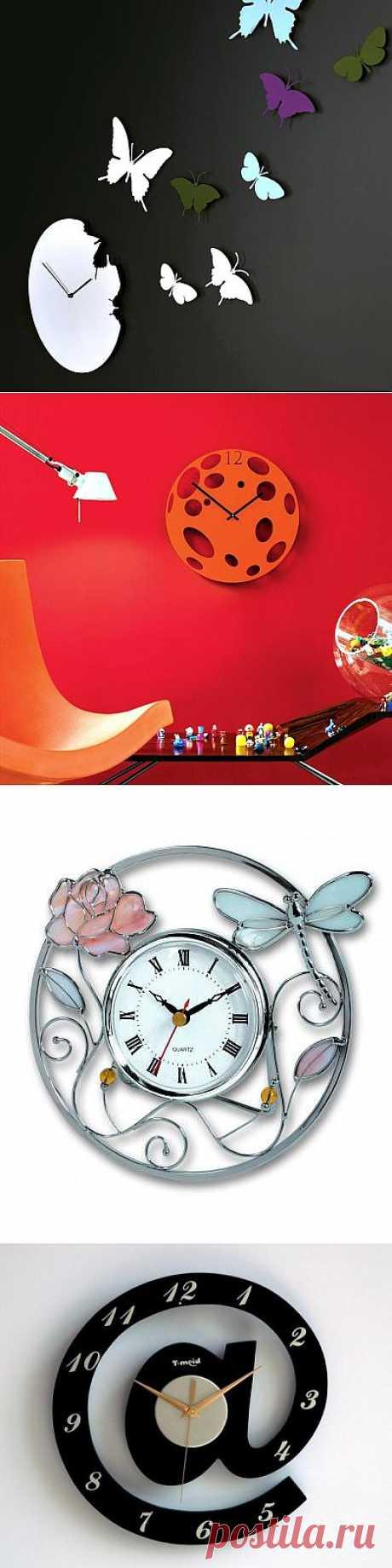 Оригинальные настенные часы.