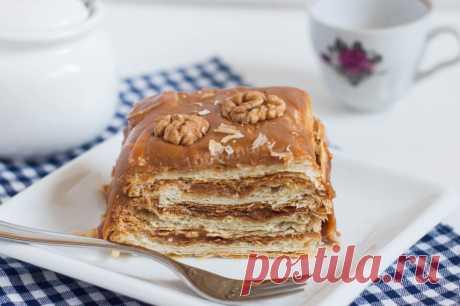 Торт Наполеон из готового слоеного теста рецепт с фото пошагово и видео - 1000.menu