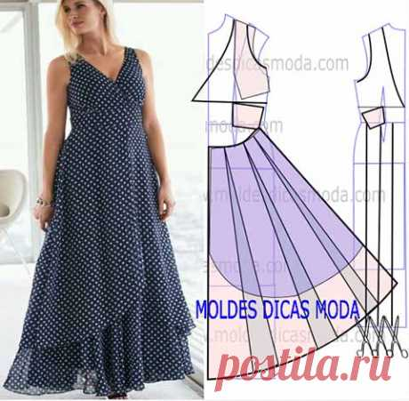 Three magnificent dresses - modeling of patterns