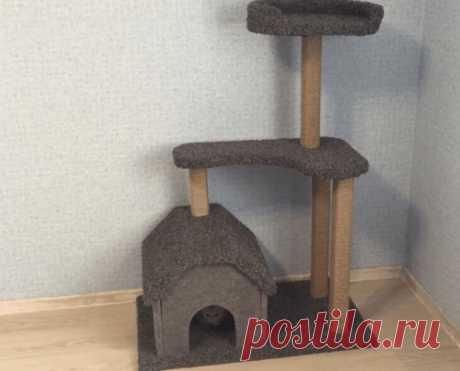 Кошачий домик своими руками или чего не сделаешь для кошачьего счастья