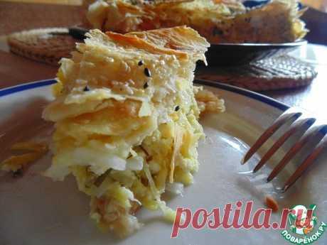 Пирог с кабачками и лавашем Кулинарный рецепт