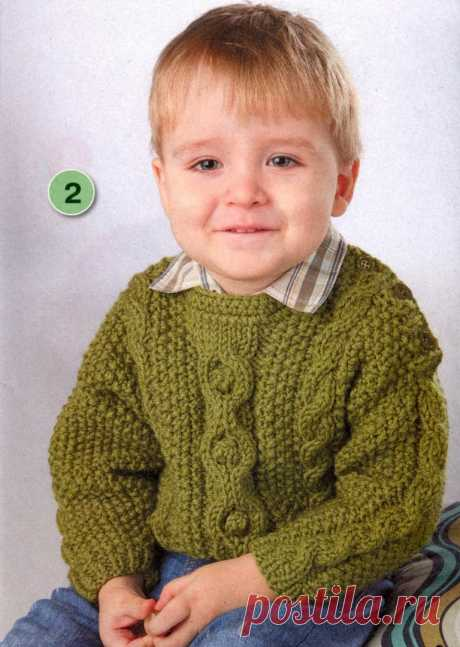 Пуловер для мальчика до 3 лет - Для детей до 3 лет - Каталог файлов - Вязание для детей