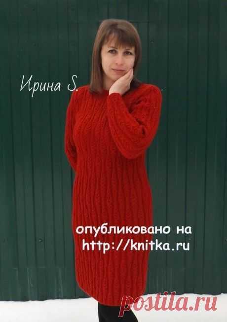 Вязаное спицами платье. Работа Ирины Стильник, Вязание для женщин