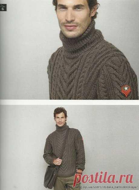 Мужской свитер (Phildar 60).