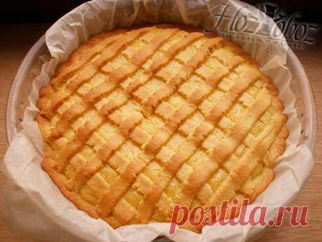 Вкуснотища! Песочный лимонный пирог