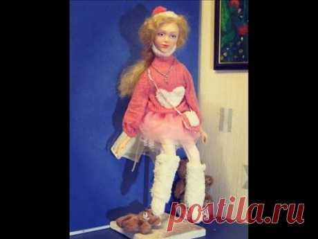 Бесплатный Мастер-класс по лепке лица куклы из полимерной глины . роспись лица авторской куклы