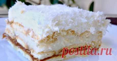 Восхитительный торт «Рафаэлло» со сгущенкой без выпечки — I Love Hobby — Лучшие мастер-классы со всего мира!