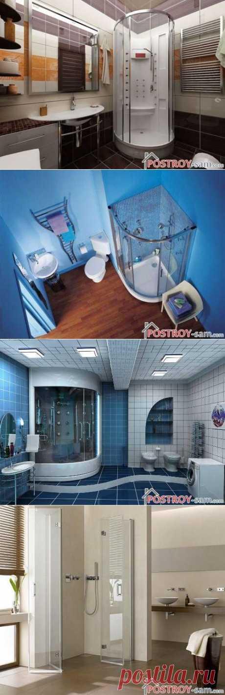 Дизайн ванной комнаты с душевой кабиной - преимущества и недостатки душа в ванной
