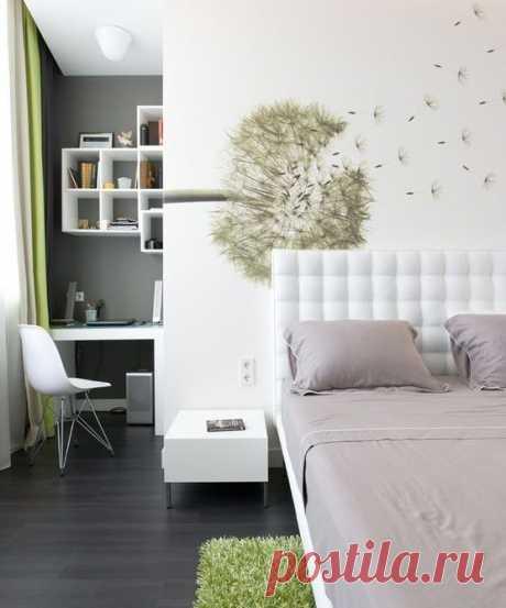 Спальня с рабочим кабинетом