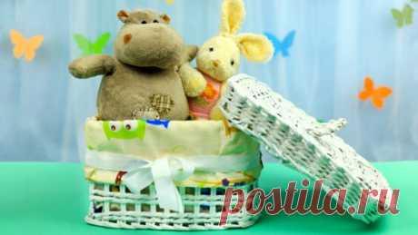 Коробка для игрушек из газетных трубочек своими руками - Яндекс.Видео