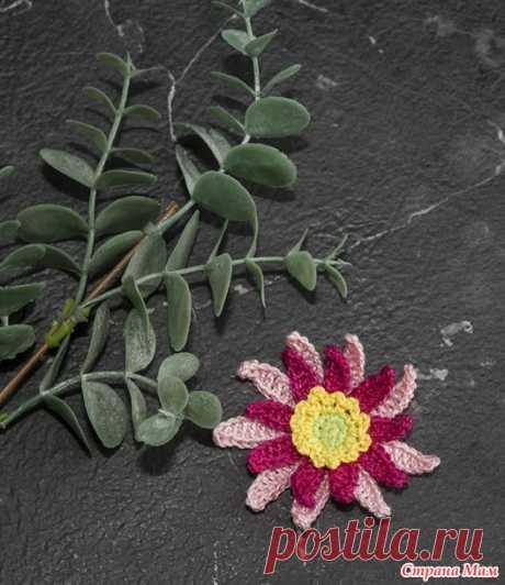 Объемный цветок крючком без сшивания деталей - Вязание - Страна Мам